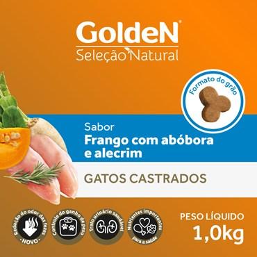 Ração Golden Seleção Natural para Gatos Castrados Sabor Frango com Abóbora
