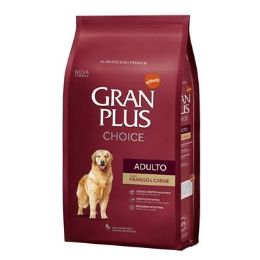 Ração Gran Plus Choice Para Cães Adultos Sabor Frango e Carne 15kg