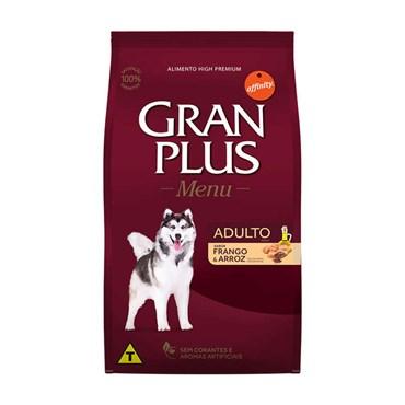 Ração Gran Plus Menu para Cães Adultos Raças Médias e Grandes Sabor Frango e Arroz 20 kg
