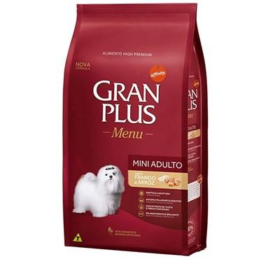 Ração Gran Plus Menu para Cães Adultos Raças Mini Sabor Carne e Arroz 10,1 kg