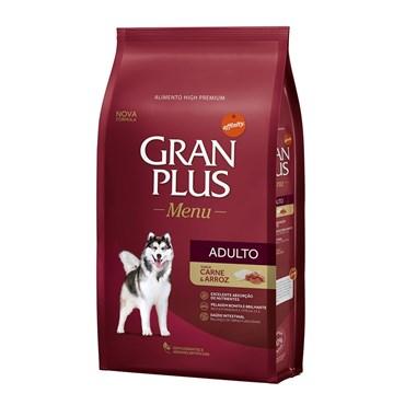 Ração Gran Plus Menu Para Cães Adultos Sabor Carne e Arroz 15kg