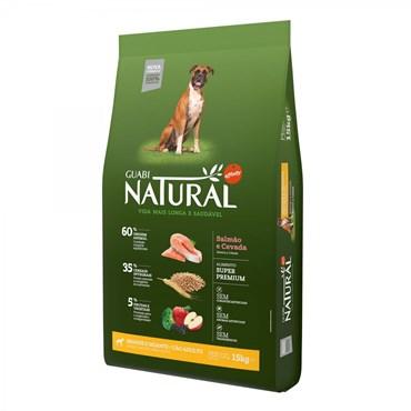 Ração Guabi Natural Para Cães Adultos de Raças Grandes e Gigantes Sabor Salmão e Cevada 15kg