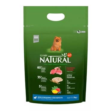 Ração Guabi Natural Para Cães Adultos de Raças Mini e Pequenas Sabor Cordeiro e Aveia