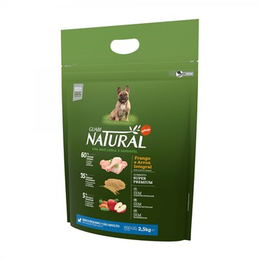 Ração Guabi Natural para Cães Adultos de Raças Mini e Pequenas Sabor Frango e Arroz Integral