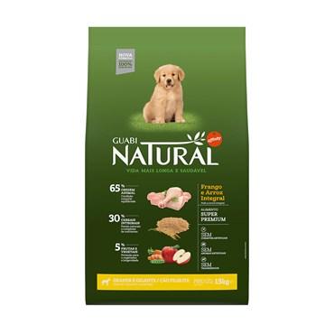 Ração Guabi Natural Para Cães Filhotes de Raças Grandes e Gigantes Sabor Frango e Arroz Integral