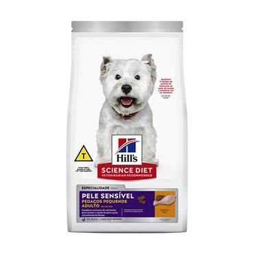 Ração Hills Canine Cães Adultos Pele Sensível Pedaços Pequenos