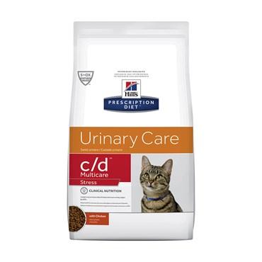 Ração Hills Feline Gatos Adultos C/D Multicare Stress Cuidado Urinário 1,8kg