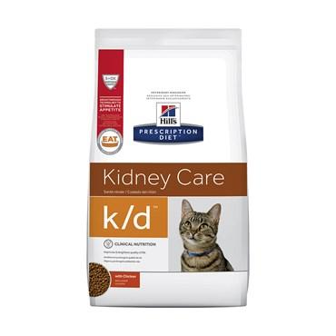 Ração Hills Feline Prescription Diet K/D Para Gatos Adultos Cuidado Renal 1,8kg