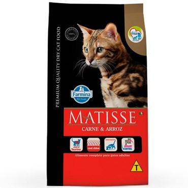 Ração Matisse Para Gatos Adultos Sabor Carne e Arroz