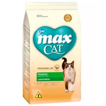 Ração Max Cat Professional Line para Gatos Castrados sabor Frango