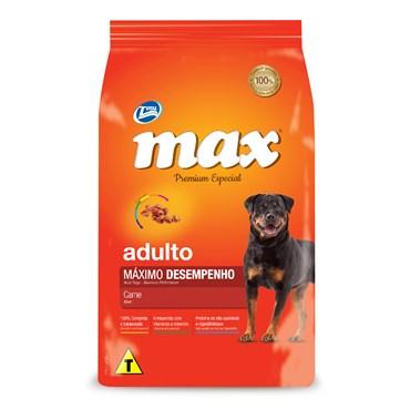 Ração Max Premium Especial para Cães Adultos Máximo Desempenho Sabor Carne