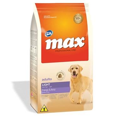 Ração Max Professional Line Cães Adultos Light Sabor Frango e Arroz 15kg