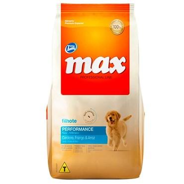 Ração Max Professional Line Cães Filhotes Sabor Cordeiro, Frango e Arroz