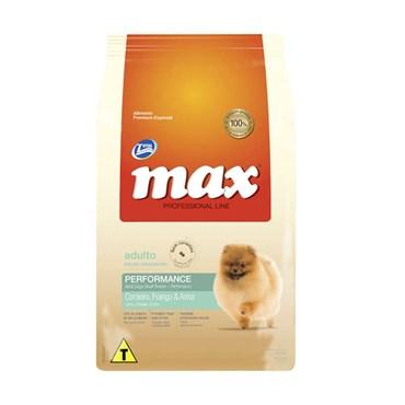 Ração Max Professional Line para Cães Adultos Raças Pequenas Sabor Cordeiro, Frango e Arroz 20kg