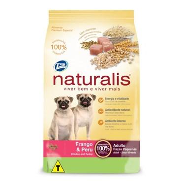 Ração Naturalis para Cães Adultos de Pequeno Porte Sabor Frango e Peru 15kg