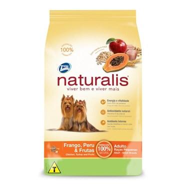 Ração Naturalis Para Cães Adultos de Pequeno Porte Sabor Frango, Peru e Frutas
