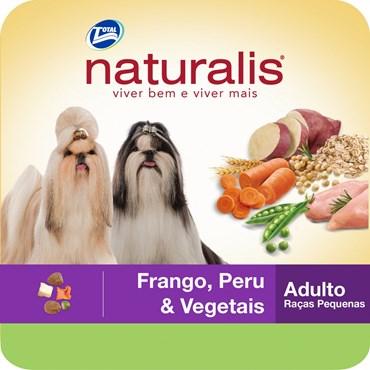 Ração Naturalis Para Cães Adultos de Pequeno Porte Sabor Frango, Peru e Vegetais