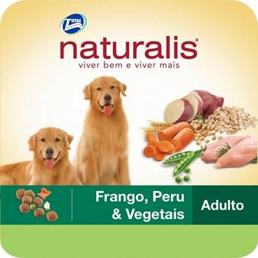 Ração Naturalis Para Cães Adultos Sabor Frango, Peru e Vegetais