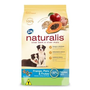 Ração Naturalis para Cães Filhotes Sabor Frango, Peru e Frutas