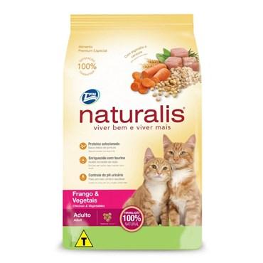 Ração Naturalis Para Gatos Adultos Sabor Frango e Vegetais