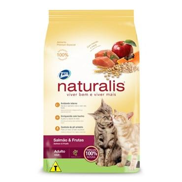 Ração Naturalis Para Gatos Adultos Sabor Salmão e Frutas