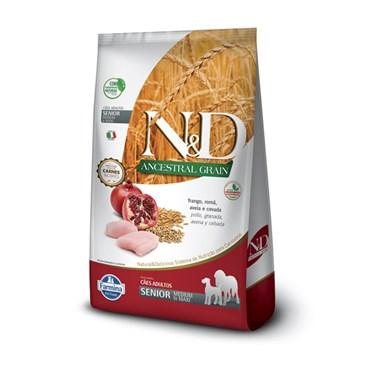 Ração N&D Ancestral Grain Cães Sênior Raças Médias Medium Breeds Frango e Romã 10,1kg