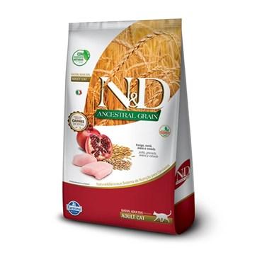 Ração N&D Ancestral Grain Gatos Adultos Frango e Romã 7,5kg
