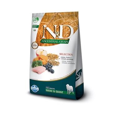 Ração N&D Ancestral Grain Selection para Cães Adultos de Raças Grandes e Gigantes 15kg