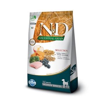 Ração N&D Ancestral Grain Selection para Cães Adultos de Raças Médias 15kg