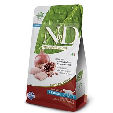 Ração N&D Grain Free Para Gatos Adultos Castrados Sabor Frango 1,5kg