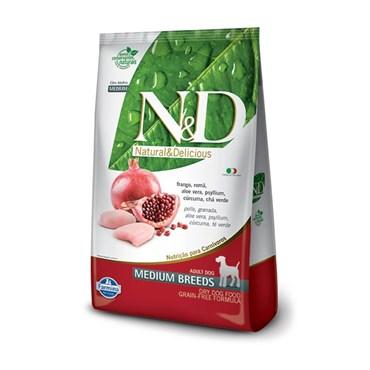 Ração N&D Prime Grain Free Cães Adultos Raças Médias Medium Breeds Frango e Romã 10,1kg