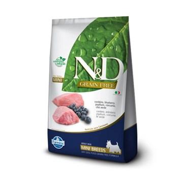 Ração N&D Prime Grain Free Cães Adultos Raças Pequenas Mini Breeds Cordeiro e Blueberry