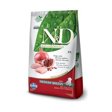 Ração N&D Prime Grain Free Cães Filhotes Raças Médias Medium Breeds Frango e Romã 10,1kg