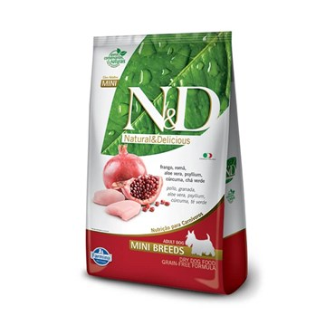 Ração N&D Prime Grain Free Para Cães Adultos de Raças Pequenas Sabor Frango