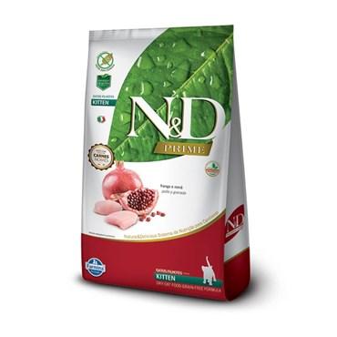 Ração N&D Prime Grain Free para Gatos Filhotes Sabor Frango e Romã 1,5kg