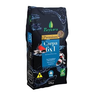 Ração Poytara Premium Carpa 6X1 - 6 kg