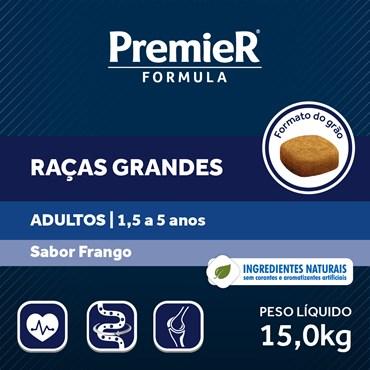 Ração Premier Fórmula Para Cães Adultos Raças Grandes e Gigantes Sabor Frango
