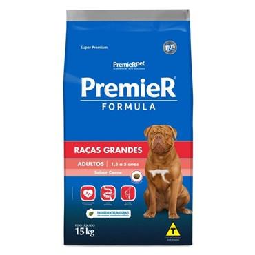 Ração Premier Fórmula Para Cães Adultos Raças Grandes Sabor Carne 15kg