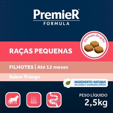 Ração Premier Fórmula Para Cães Filhotes Raças Pequenas Sabor Frango