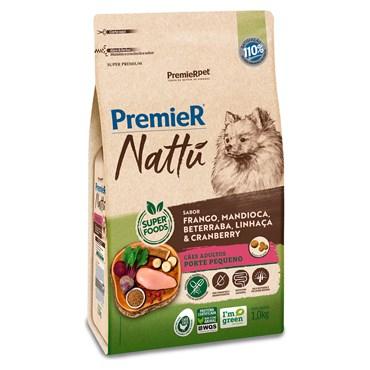 Ração Premier Nattu Para Cães Adultos de Pequeno Porte Sabor Mandioca