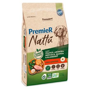 Ração Premier Nattu para Cães Adultos Sabor Abóbora 12Kg