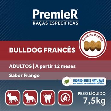 Ração Premier para Cães Adultos Raças Específicas Bulldog Francês Sabor Frango