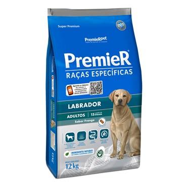 Ração Premier Para Cães Adultos Raças Específicas Labrador Sabor Frango 12kg