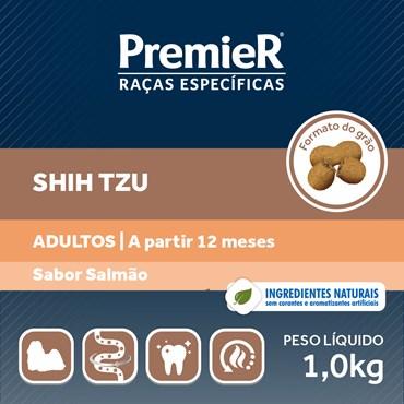 Ração Premier Raças Específicas Para Cães Adultos Shih Tzu Sabor Salmão