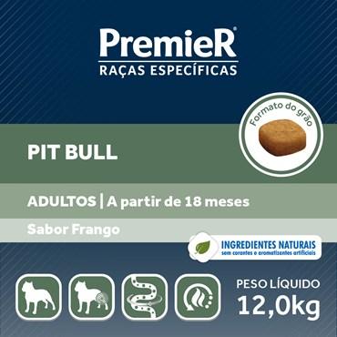 Ração Premier Raças Específicas Pitbull para Cães Adultos Sabor Frango 12kg