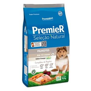 Ração Premier Seleção Natural Cães Filhotes Sabor Proteína de Frango Raças Médias e Grandes