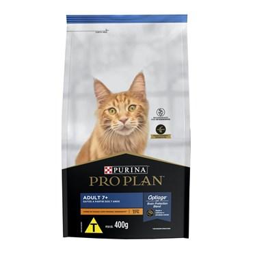 Ração Purina Pro Plan para Gatos Adultos 7+ Sabor Frango 400 g