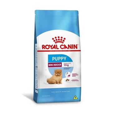 Ração Royal Canin Mini Indoor Puppy Cães Filhotes de 2 a 10 meses Ambientes Internos