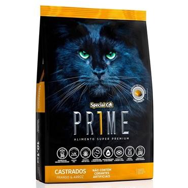 Ração Special Cat Prime Gatos Castrados Sabor Frango e Arroz