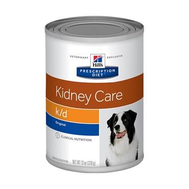 Ração Úmida Hills Canine Cães Adultos K/D Cuidado Renal Lata 370g